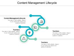 Content Management Lifecycle Ppt Powerpoint Presentation Summary Layouts Cpb
