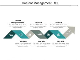 Content Management ROI Ppt Powerpoint Presentation Gallery Smartart Cpb