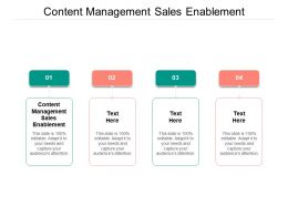 Content Management Sales Enablement Ppt Powerpoint Presentation Model Cpb
