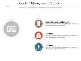 Content Management Solution Ppt Powerpoint Presentation Show Slide Cpb