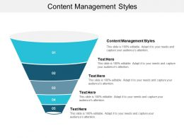 Content Management Styles Ppt Powerpoint Presentation Infographics Influencers Cpb
