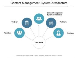 Content Management System Architecture Ppt Powerpoint Presentation Pictures Vector Cpb