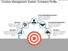 Content Management System Company Profile Detailed Product Development Cpb