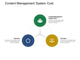 Content Management System Cost Ppt Powerpoint Presentation Professional Summary Cpb