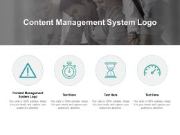 Content Management System Logo Ppt Powerpoint Presentation Gallery Cpb