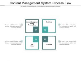 Content Management System Process Flow Ppt Powerpoint Presentation Infographic Template Display Cpb