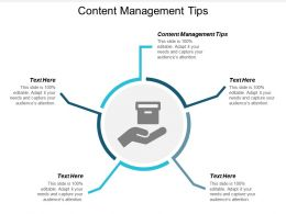 Content Management Tips Ppt Powerpoint Presentation Outline Example File Cpb