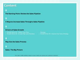 Content Map Out The Sales Process Ppt Powerpoint Presentation Designs Download