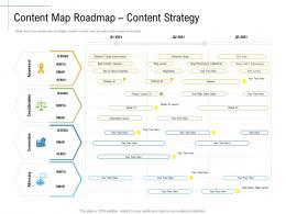 Content Map Roadmap Content Strategy Marketing Roadmap Ideas Acquiring Customers Ppt Graphics