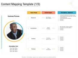 Content Mapping Template Approach Ppt Guidelines
