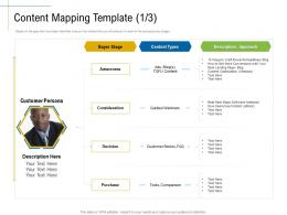 Content Mapping Template Optimization Marketing Roadmap Ideas Acquiring Customers Ppt Slides