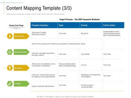 Content Mapping Template Presentation Marketing Roadmap Ideas Acquiring Customers Ppt Elements