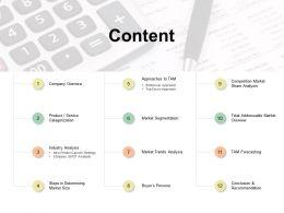 Content Market Segmentation Ppt Powerpoint Presentation File Graphics Template