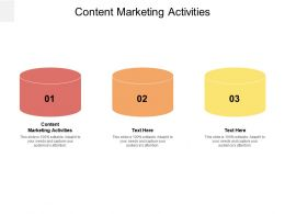 Content Marketing Activities Ppt Powerpoint Presentation Professional Outline Cpb