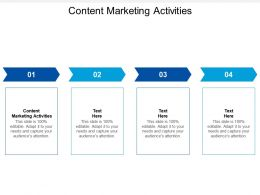 Content Marketing Activities Ppt Powerpoint Presentation Templates Cpb