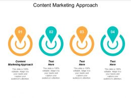 Content Marketing Approach Ppt Powerpoint Presentation Gallery Ideas Cpb