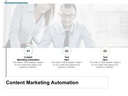 Content Marketing Automation Ppt Powerpoint Presentation Outline Themes Cpb