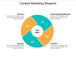 Content Marketing Blueprint Ppt Powerpoint Presentation Pictures Show Cpb