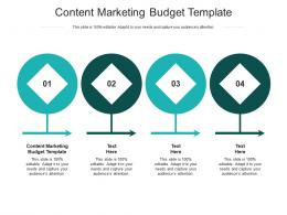 Content Marketing Budget Template Ppt Powerpoint Presentation Styles Show Cpb