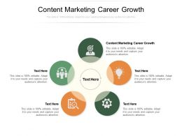 Content Marketing Career Growth Ppt Powerpoint Presentation Mockup Cpb