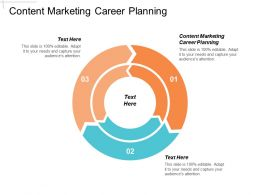 Content Marketing Career Planning Ppt Powerpoint Presentation Gallery Graphics Pictures Cpb