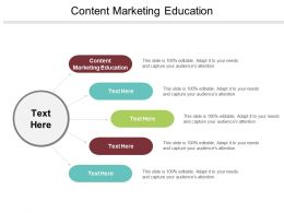 Content Marketing Education Ppt Powerpoint Presentation File Information Cpb
