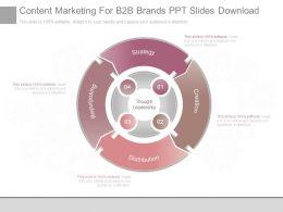 Content Marketing For B2b Brands Ppt Slides Download