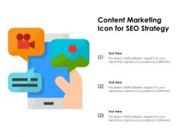Content Marketing Icon For SEO Strategy