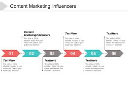 Content Marketing Influencers Ppt Powerpoint Presentation Layouts Samples Cpb