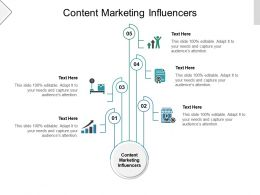 Content Marketing Influencers Ppt Powerpoint Presentation Visual Aids Ideas Cpb