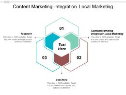 Content Marketing Integration Local Marketing Ppt Powerpoint Presentation Good Cpb