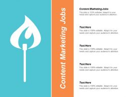 Content Marketing Jobs Ppt Powerpoint Presentation Gallery Graphics Template Cpb