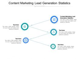 Content Marketing Lead Generation Statistics Ppt Powerpoint Presentation Outline Outfit Cpb