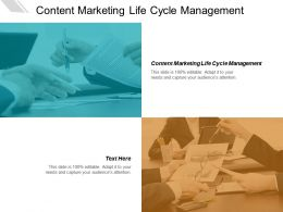 Content Marketing Life Cycle Management Ppt Powerpoint Presentation Layouts Shapes Cpb