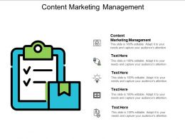 Content Marketing Management Ppt Powerpoint Presentation Gallery Information Cpb