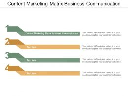 Content Marketing Matrix Business Communication Ppt Powerpoint Presentation Model Deck Cpb