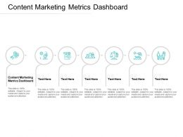 Content Marketing Metrics Dashboard Ppt Powerpoint Presentation Ideas Cpb
