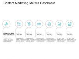 Content Marketing Metrics Dashboard Ppt Powerpoint Presentation Ideas Cpb
