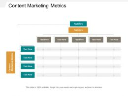 Content Marketing Metrics Ppt Powerpoint Presentation Outline Files Cpb