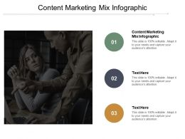 Content Marketing Mix Infographic Ppt Powerpoint Presentation File Sample Cpb