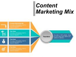 Content Marketing Mix Ppt Powerpoint Presentation Ideas Outline Cpb