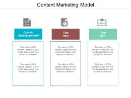 Content Marketing Model Ppt Powerpoint Presentation Pictures Slide Cpb
