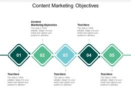 Content Marketing Objectives Ppt Powerpoint Presentation File Graphics Tutorials Cpb