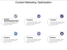 Content Marketing Optimization Ppt Powerpoint Presentation Infographic Template Show Cpb