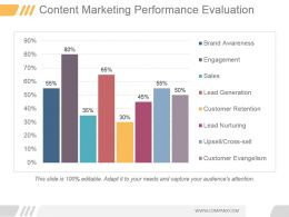 Content Marketing Performance Evaluation Ppt Sample