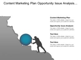 Content Marketing Plan Opportunity Issue Analysis Strategy Formulation
