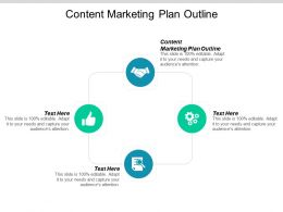 Content Marketing Plan Outline Ppt Powerpoint Presentation Icon Portfolio Cpb