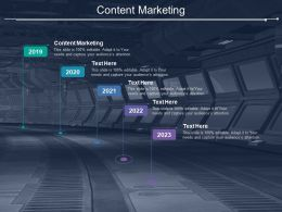 Content Marketing Ppt Powerpoint Presentation Gallery Influencers Cpb