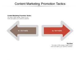 Content Marketing Promotion Tactics Ppt Powerpoint Presentation Infographics Guide Cpb