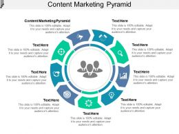 Content Marketing Pyramid Ppt Powerpoint Presentation Show Themes Cpb